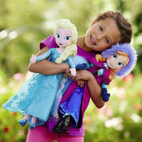 Cheap Wholesale 2014 New 12inch 50cm Frozen Plush Dolls Toys Princess Elsa Anna Brinquedos Kids Toys For Girls Free Shipping