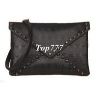 Cheap New 2014 Fashion Korean Designer Rivet Envelope Single Shoulder Women Bags Skull Clutch Crossbody Punk Brand Handbags For Girls