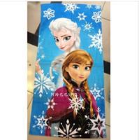 Wholesale 9 styles FROZEN Princess Towel Frozen Elsa and Anna cotton towels bathroom children beach towel kids bath towel frozenC33