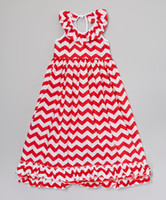 Wholesale Girls Stunning Red Chevron Summer Maxi Halter Top Dress for Years Old pieces