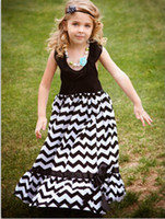 chevron maxi dress - Girls Boutique Maxi Dress Black White Chevron for Years Old Long Beach Dress