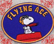 Wholesales 50 Pieces Cartoon Dog Flying Ace (8 x 6 cm) Iron on Patch Embroidered Applique (ALY)