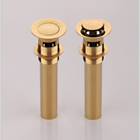 Wholesale gold clour Pop up drain with overflow