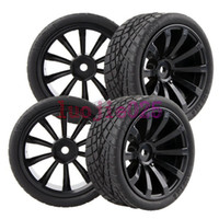 Wholesale 6mm offse RC Rubber Racing Tires Tyres Wheel Rim On Road Car Fit HSP REDCAR