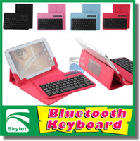 Wholesale Bluetooth Wireless Keyboard Leather Case For iPad Mini Ipad Air Compatible All IOS amp Android Tablet PC With Keyboard Built in Pieces