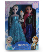 Kraft Paper adventure ice - hot doll frozen Elsa Anna Big adventure of ice and snow and sisters for a doll CM DROP SHIPPING high quality DHL