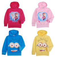 Wholesale spring autumn childrens clothing boys girls frozen elsa hoodies Sweater kids hoodie