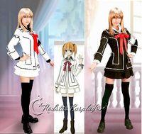 Wholesale Vampire Knight Cosplay Costume Yuki Cross White or Black in any size