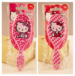 Wholesale 2pcs appearances hello Kitty Stitch D cartoon style Princess comb PP massage hairbrush