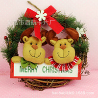 Wholesale Christmas decorations Han edition Santa Claus hoop Christmas wreath Christmas rattan ring