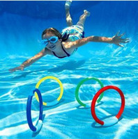 Cheap 4 pcs Underwater Swimming Pool Stick Water Sinking Diving Dive Rings Kid Toy Fun Game