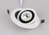 Wholesale 7W V Dimmable COB LED downlight White Light led downlamp down light led downlights driver