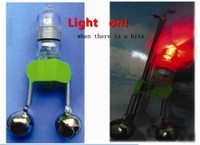 Wholesale Bell electronic alarm pole bell fishing tackle fishing tackle bell smart flashing light alarm lamp