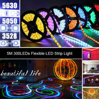 best flexible - Best Price M Blue LED Strip Lights SMD RGB White Warm Red Waterproof nonWaterproof LEDs Flexible Single Color By DHL