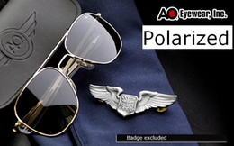 Wholesale New AO Flyer MILITARY mm mm Men Women Metal Polarized SUNGLASSES by American Optical Brand New in Original Brand Box gafas oculos de