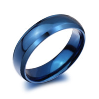 ring size 4 - New Fashion Classic Blue Titanium Stainless Steel Rings for men Women Finger Jewelry Ring US Size Drop Shipping