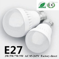 9w led - 3W W W W LED bulbs LED Globe Light Energy Saving Ac85 V E27 Dimmable led lamp Factory Direct years warranty led lights