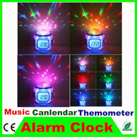 amazing alarm clock - 1pc Amazing Romantic Sky Starry Projector Lamp Alarm Clock Music Mode Countdown Snooze Function For Children Bedroom Gift Toy