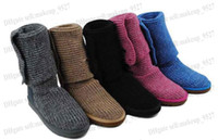 Free Shipping women girl Xmas gift New woollen weave woman's...
