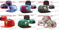 Wholesale New Style Hater Full Leather Snapback Caps High Quality Comfort Fit Cap Hater Caps Ajusted Men Cap Boy Cap Fashion Caps Hats Hat