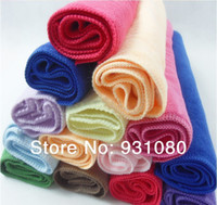 Cheap Wholesale nano super absorbent microfiber hand towel daily household cleaning wipes to scrub cars Towel 5 PCS