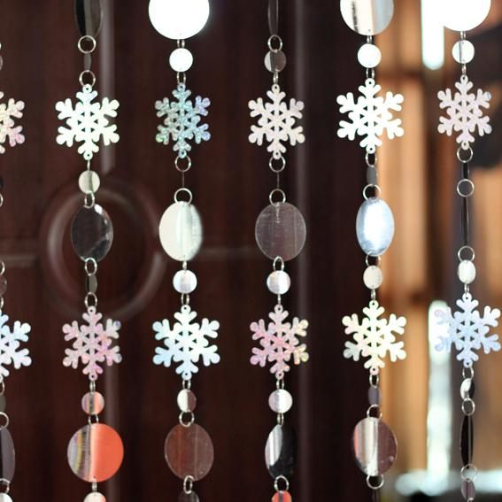 Curtains Ideas curtains decoration pictures : Sequins Glitter Snowflake Decorative Door Curtain,Christmas ...