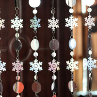 Wholesale sequins glitter Snowflake Decorative door Curtain Christmas decoration curtains Can be freely combined