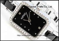 Wholesale new style WOMEN rectangular dial desigh stainless steel watches japan movement K452L