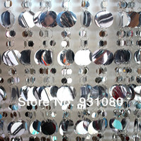 Wholesale Silver and white sequined curtain glitter decoration festival stage background curtains