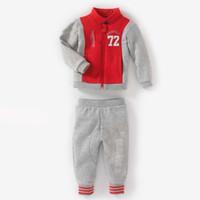 Cheap 5 sets lot New Arrive Spring Autumn boys jacket pants sports suit tracksuits Patchwork coats children kids Sweater sweatshirt