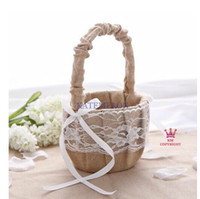 baskets - Linen satin cloth flower basket Flower Girl Baskets for Wedding Favors