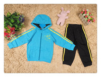 Cheap 5 sets lot Boy Spring Autumn boys jacket pants sports suit Hoodies tracksuits coats children kids Hooded Sweater sweatshirt