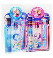 Wholesale hot Sale Sets FROZEN Stationery Set for Student Pencil Ruler Frozen School amp Educational Supplies
