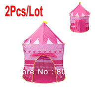 Cheap 2Pcs Lot Outdoor Beach Baby Tent, Children Kid Toy Play Game House, Princess Prince Castle Toys Tents Gifts Pink 7378
