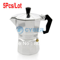 Wholesale 5Pcs New Stove Top CUPS Continental Aluminum Coffee Maker Coffee Pot Machine Percolator TK0961
