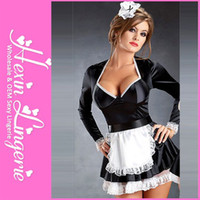 maid costume - Plus Size Sexy Cosplay Dress Women Fancy French Maid Costume LB2365