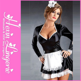 Wholesale Plus Size Sexy Cosplay Dress Women Fancy French Maid Costume LB2365