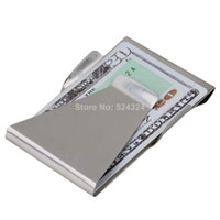 money clips - MN Slim Money Clip Double Sided Cash Credit Wallet Stainless Steel New Hot Selling