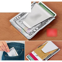 bank steel - New Arrival Stainless Steel Double Side Money Cash Credit Bank Card Wallet Grip Money Clip