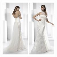 Cheap 2015 Halter split front Best Halter Wedding Dresses