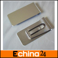 Wholesale MN Whole Sale Mini Stainless Steel Money Cash Clip Credit Card Holder Wallet