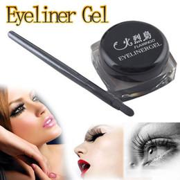 Wholesale MN Black Waterproof Eye Liner Eyeliner Gel Makeup Cosmetic Brush