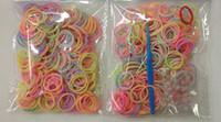 Cheap 500pcs Refill Rainbow loom rubber band blending or monochrome (300 rubber +12 S +1 hook) Christmas gifts