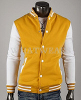 baseball jackets - Fashion Classic Unisex Mens Slim Fit College Varsity Baseball Jacket Color