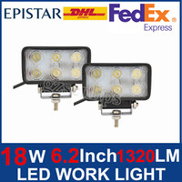 Wholesale 18W LED Work Light Lamp Driving ATV UTV Offroad Jeep Trailer x4 Spot SUV UTE