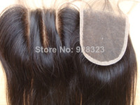 Brazilian Hair Natural black  Straight Malaysian virgin hair lace top closure FREE SHIPPING!Queen hair 3 way part middle part free part lace closure bleached knot be dyed Closure