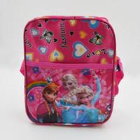 Wholesale Newest Girls Frozen Anna Elsa Sets bags child Fashion Cartoon handbags kids Small shoulder bags children day s gift frozen purse