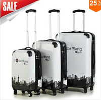 Wholesale Men s and women s ABS suitcase trolley rolling luggage sets universal wheels travel bag