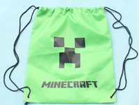 Wholesale Minecraft bag Minecraft backpack Minecraft Draw String Backpack Sling Bag Good Quality
