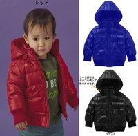Wholesale 2014 New Autumn Winter Children Boys Outwear Long Sleeve Hoodies Kids Cotton Down Jackeet Coat Kids Zip Clothes Black Blue Orange T J0876